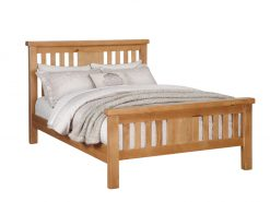 Somerset Oak Single Bed Frame