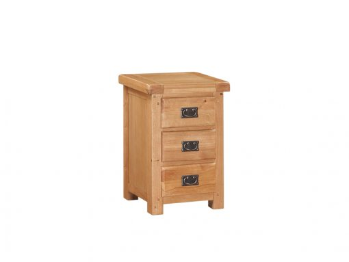 Somerset Oak 3 Drawer Nightstand