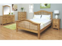 Tullamore Solid Oak Kingsize Bed-0