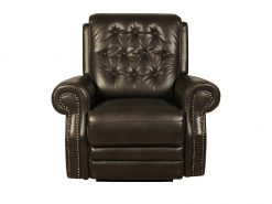 Asbourne Buffalo Leather Brown 2 Seater Recliner Sofa-2217