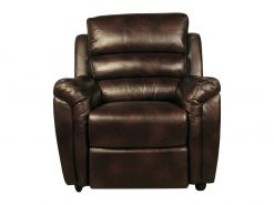 Croydon Brown Leather Look Chair -0