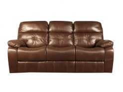 Jacky Leather Look 3 Seater Recliner Sofa-0