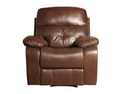 Jacky Leather Look 3 Seater Recliner Sofa-2180