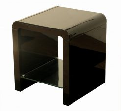 Atlantis Clarus Black High Gloss End Table-0