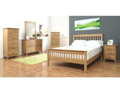 Clare Solid Oak Small Double Bed-0