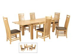 Detroit Large Draw Leaf Extension Dining Set-0