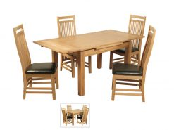 Detroit Small Draw Leaf Extension Dining Set-0