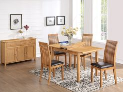 Empire Solid Oak 4' Extension Dining Set-0