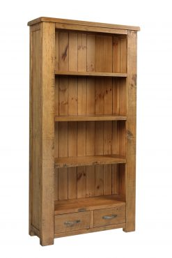 Henley Chunky Pine Tall Wide Bookcase-0