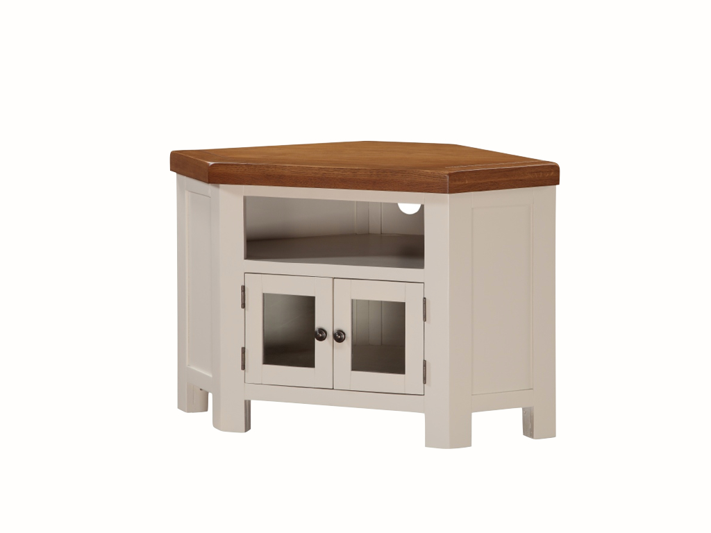 Picture of: Heritage Solid White Corner Tv Unit The Really Solid Furniture Company