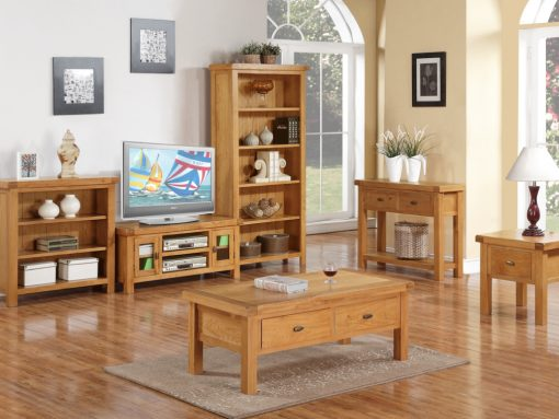 Oakleigh Solid Oak Large Hall Table-2561