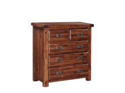 Roscrea Acacia 2 Over 3 Style 5 Drawer Dresser-0