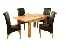 Sierra Solid Ash 4x3 Extension Dining Set-0