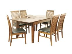 Strathmore Acacia Wooden 6x3 Extension Dining Set-0