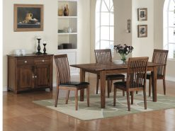 Strathmore Acacia Wooden 6x3 Extension Dining Set-2414