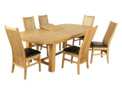 Tampa Solid Oak Extra Large Butterfly Extending Dining Set-0