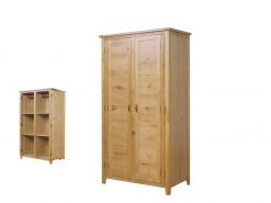 Tullamore Solid Oak 2 Door Robe-0