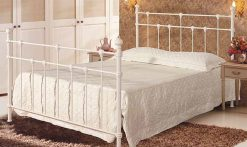 Dorset Ivory Metal Small Double Bed Frame-0