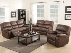 Carlton Brown Leather Sofa Suite