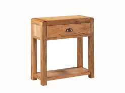 Oakridge Solid Oak 1 Drawer Hall Table