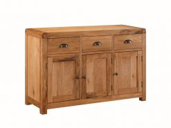 Oakridge 3 Door Solid Oak Sideboard