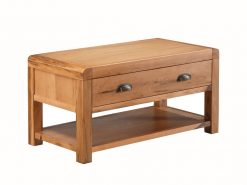 Oakridge Solid Oak 1 Drawer Coffee Table
