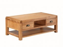 Oakridge Solid Oak 2 Drawer Coffee Table