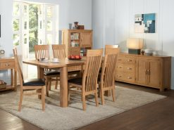 Treviso Oak 4ft Dining Set