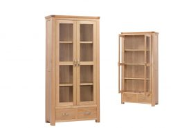 Treviso Solid Oak Display Cabinet