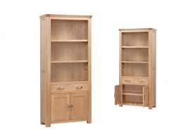 Treviso Solid Oak High Bookcase