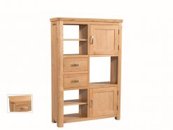Treviso Solid Oak High Display Unit