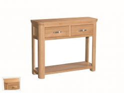 Treviso Solid Oak Large Console Table