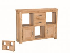 Treviso Solid Oak Low Display Unit