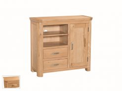 Treviso Solid Oak Media Unit