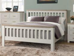 Treviso Cream Oak Double Bed Frame