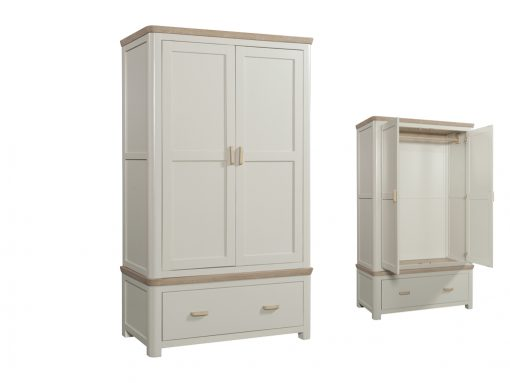 Treviso Painted Oak Double Wardrobe