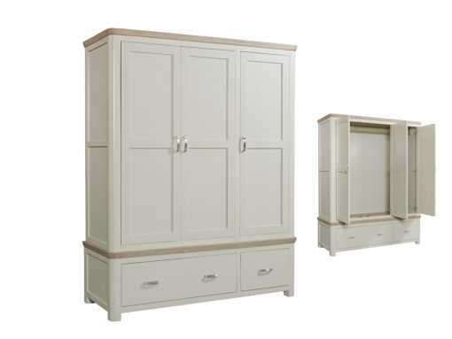 Treviso Painted Oak Triple Wardrobe