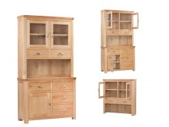 Treviso Solid Oak Small Buffet Hutch