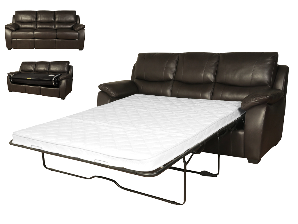 Annaghmore Swindon Leather Sofa Bed The Really Solid Furniture Company
