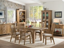 Annaghmore Lyon French Oak 120cm Extension Dining Set