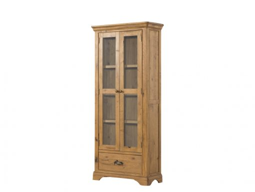 Annaghmore Lyon French Oak Large Display Cabinet