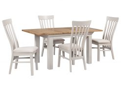 Annaghmore Lyon Painted Oak 140cm Extension Dining Set