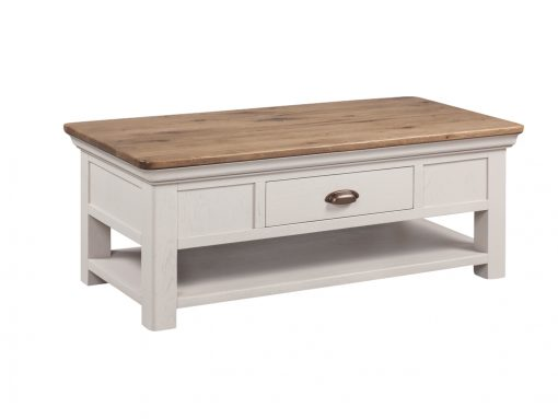 Annaghmore Lyon Stone Painted Oak Coffee Table