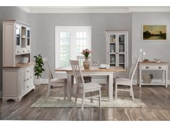 Lyon Painted Oak 140cm Extension Dining Set