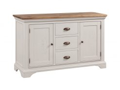Annaghmore Lyon Stone Painted Oak Large Sideboard
