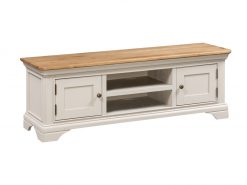 Annaghmore Lyon Stone Painted Oak Large Tv Unit