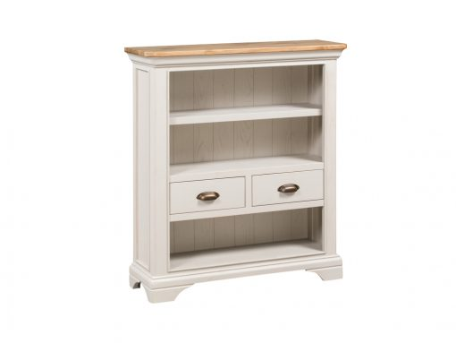 Annaghmore Lyon Stone Painted Oak Small Bookcase