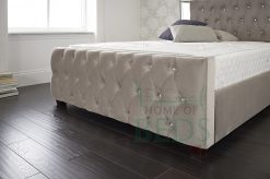 Home Of Beds Reflection Small Double Fabric Bed Frame Footboard