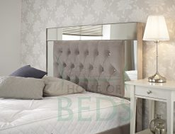 Home Of Beds Reflection Super Kingsize Fabric Bed Frame Headboard
