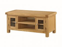 Annaghmore Newbridge Solid Oak Large Straight TV Unit